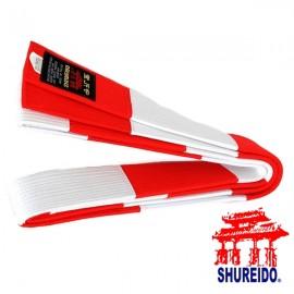 Ceinture blanche et rouge Shureido