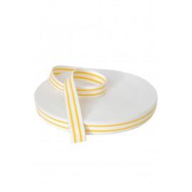 Ceinture blanche avec 2 bandes de judo