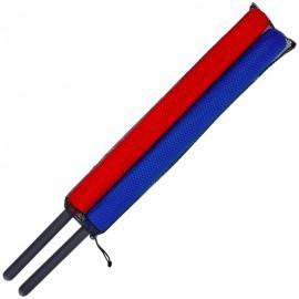 Chambara rouge et bleu